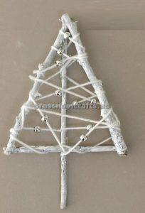 Winter tree stick craft for preschool and kindergarten