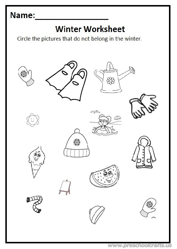 winter worksheet for preschool free printable - Free Printables For Preschool