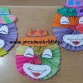 accordion clown kids craft idea