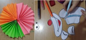 accordion funny clown creative to make for preschoolers