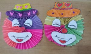 accordion smile clown crafts for kids