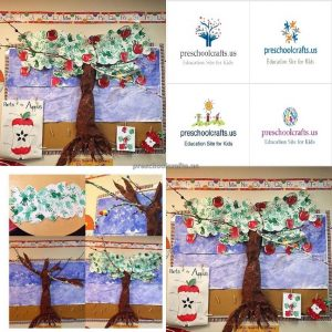 how to make apple tree crafts-bulletin board
