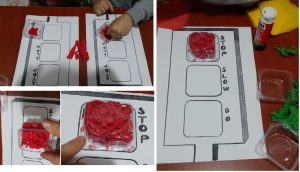 kids traffic lights craft ideas from recycle materials