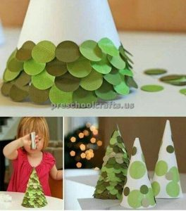 preschool craft idea for winter tree
