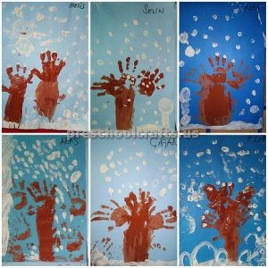 preschool craft idea for winter tree activities