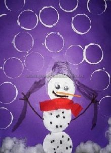 preschool craft to snowman