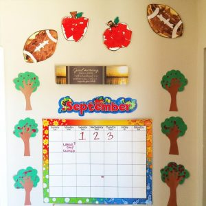september calender craft idea for preschool and kinergarten