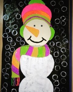 snowman craft idea preschool and kindergarten