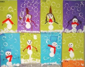snowman craft idea preschool kindergarten