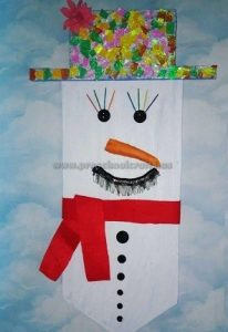 snowman craft ideas preschool -kindergarten