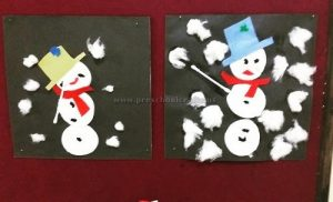 snowman crafts ideas for preschool and kindergarten