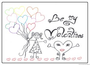 Be My Valentines Day Coloring Page Free Printable