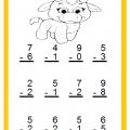 Free Beginner Subtraction Worksheet for 1st Grade