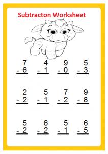 kindergarten subtraction worksheet archives  preschool crafts free beginner subtraction worksheet for st grade