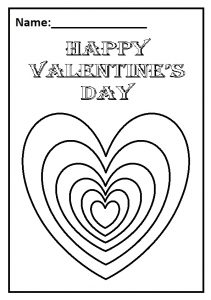 Happy Valentine's Day Theme Worksheet