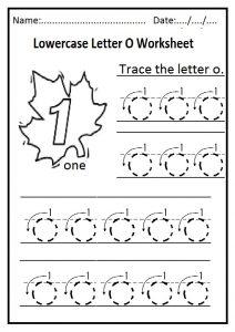 Lowercase Letter O Worksheet Free Printable Preschool And
