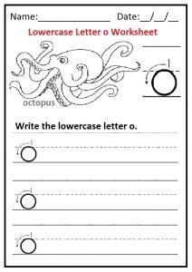 Printable Lowercase Letter O Writing Worksheet