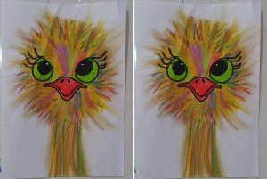 funny ostrich art activity for preschool