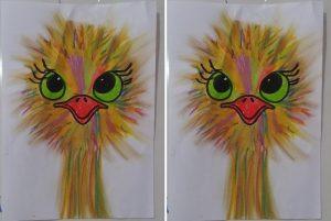 funny ostrich art activity for preschool