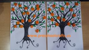 furuit mandarin tree craft idea for kids