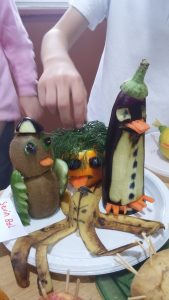 furuits and vegetables diy art projects for kindergarteners