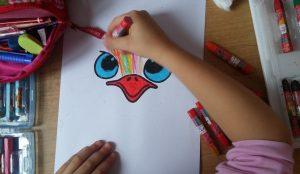 preschoolers ostrich art activity idea