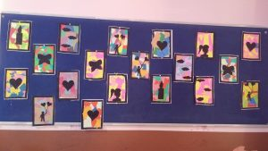 preschoolers paper tearing and shadow art crafts