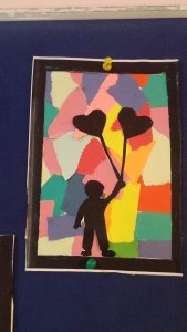 valentines day art craft idea by paper tearing for kids