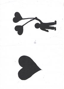 valentines day heart shadow template for kids art craft activities