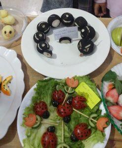 vegetables caterpillar and ladybugs diy art activities for kids