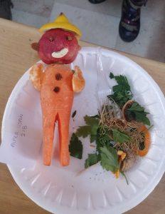 vegetables farmer art activity for little kids