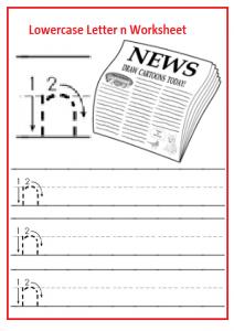 kindergarten small letter n worksheets archives  preschool crafts tag kindergarten small letter n worksheets