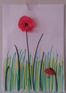 kindergarten spring poppy crafts
