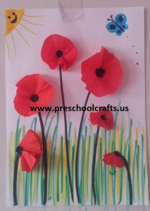 poppy spring themed craft ideas for preschool