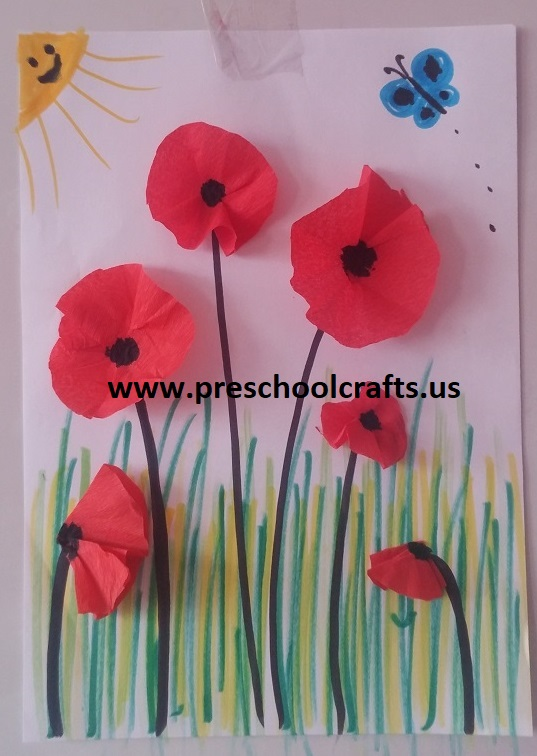 How To Make Poppy For Spring Craft Idea Preschool And