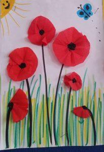 red poppy spring craft activities for preschool