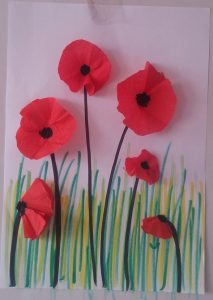 red poppy spring craft idea for kids