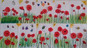spring bulletin board by red poppy for preschool