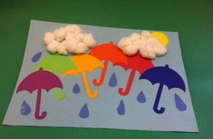 spring rainbow craft idea for preschoolers
