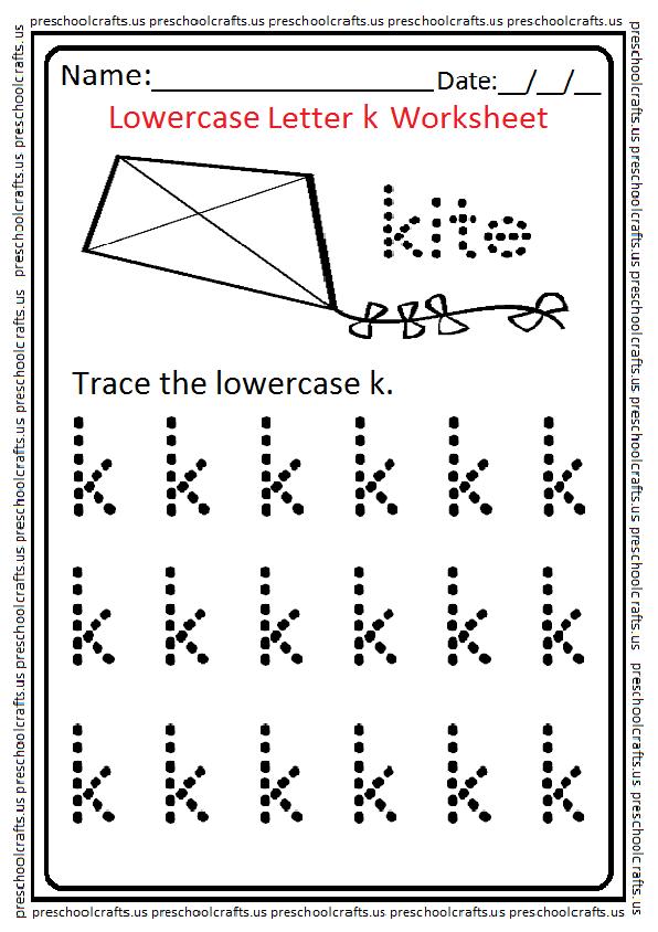 Lowercase Letter K Lowercase Letter k Wor...