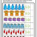 Preschool Subtraction Worksheet - Clothes Theme Free Printable