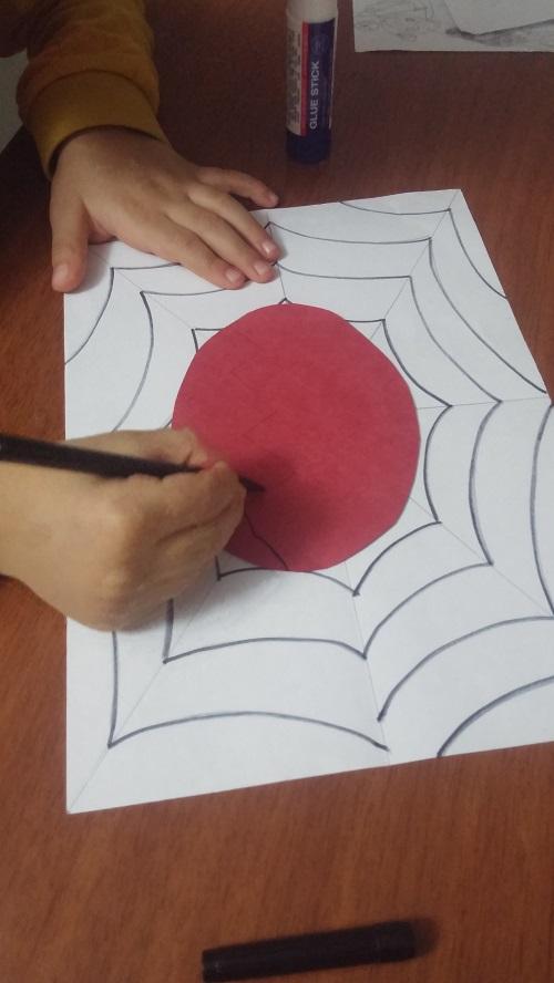 preschool easy spider craft idea