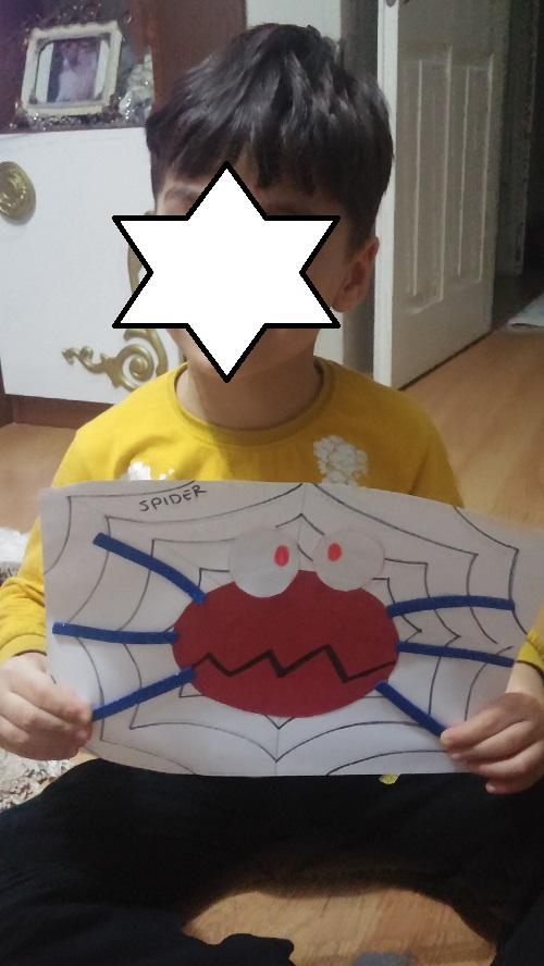 s is for spider craft idea for teach alphabet letters