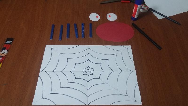 spider kids craft idea materials
