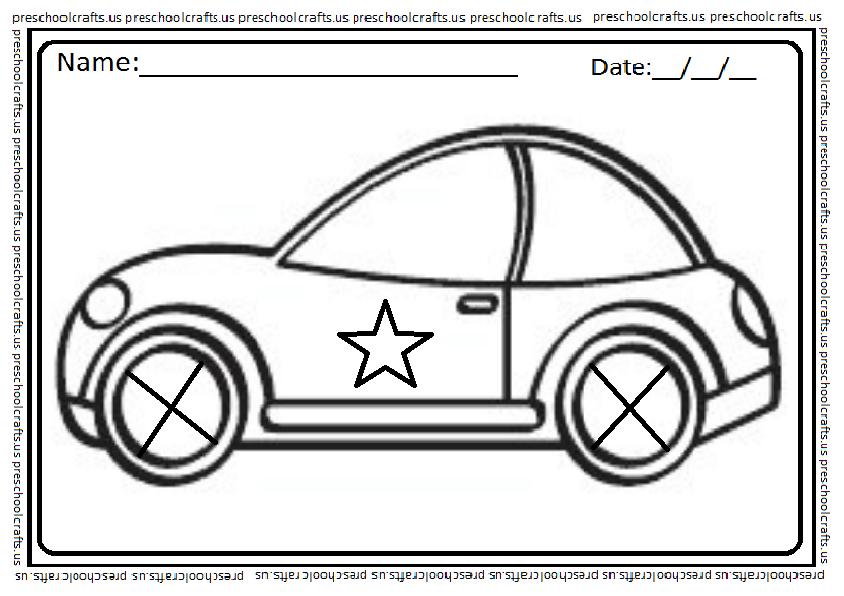 preschool car coloring pages - photo#48