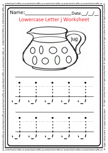 Lowercase Letter j Worksheet Preschool and Kindergarten