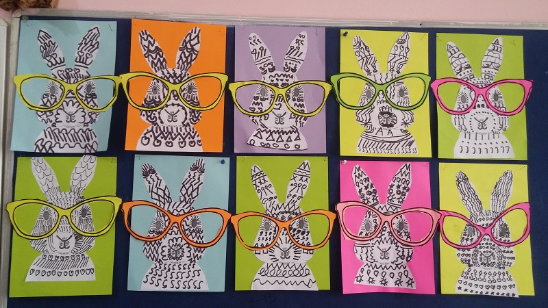 easy fun spectacled bunny craft idea for kids
