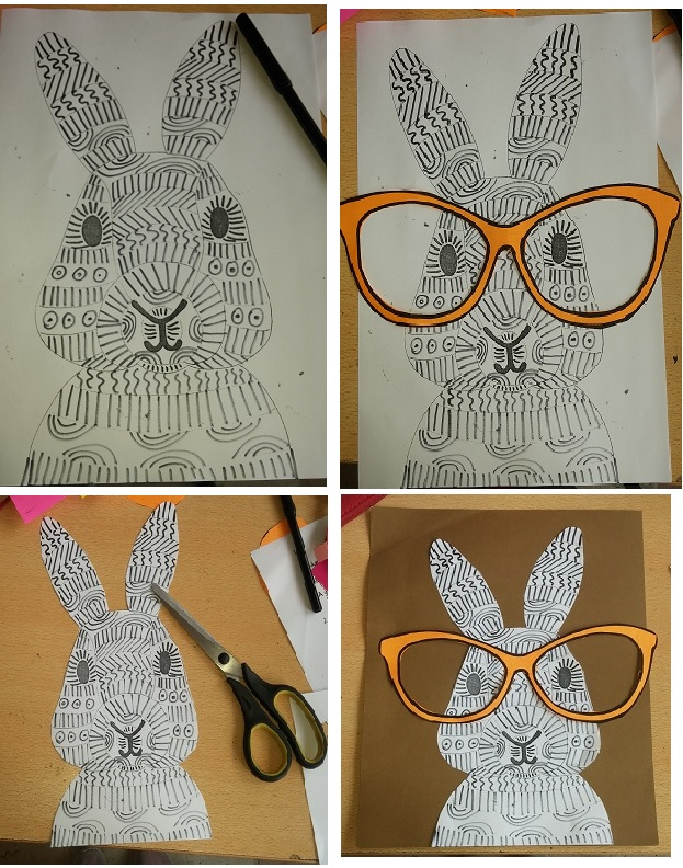 how to make spectacled bunny craft idea