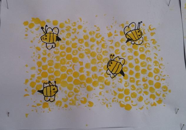 packaging bubble nylon print honeycomb craft activity for preschool