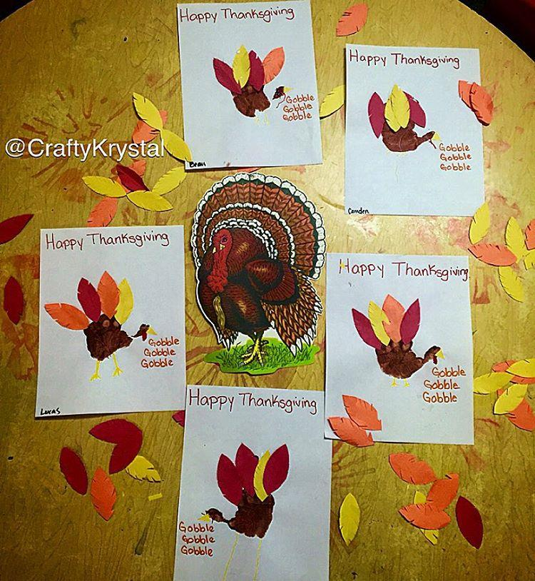 happy thanksgiving craft idea for preschool and kindergarten